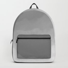 Gray Watercolor Ombre (gray/white) Backpack