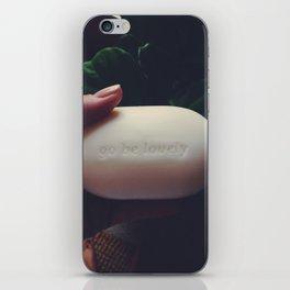 Go Be Lovely iPhone Skin