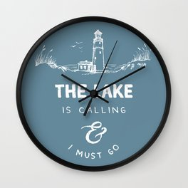 The Lake is Calling Wall Clock