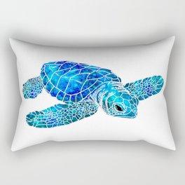 Sea Turtle Watercolor Art Rectangular Pillow