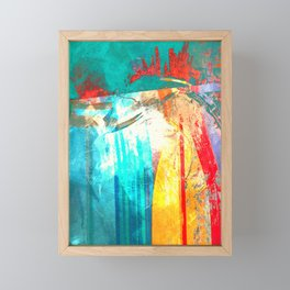Surfing Framed Mini Art Print