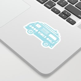 Good Vibes Only retro surfing Camper Van Sticker