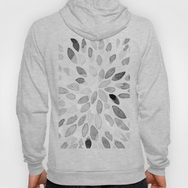 Watercolor brush strokes - black and white Hoody