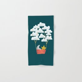 Hot cloud baloon - moon and star Hand & Bath Towel