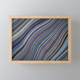 Mild Wavy Lines IV Framed Mini Art Print