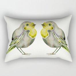 Little Yellow Birds Rectangular Pillow
