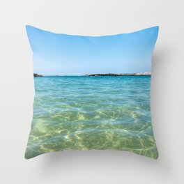 Crystal clear ocean Throw Pillow