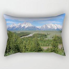 Snake River And The Grand Tetons Rectangular Pillow