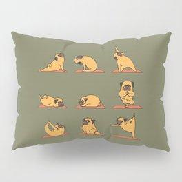 Pug Yoga In Khaki Pillow Sham