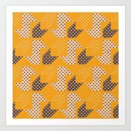 Clover&Nessie  Mandarin/Mocha Art Print