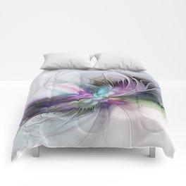 New Life, Abstract Fractals Art Comforters