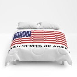 United States flag Comforters