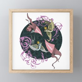 Gemini zodiac Framed Mini Art Print