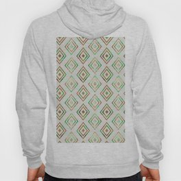 Abstract geometrical brown lime green ethno diamonds pattern Hoody