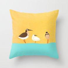 scolopacidae birds Throw Pillow