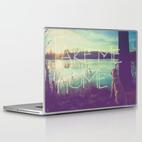 home sweet home Laptop & iPad Skins featuring HOME by Monika Strigel