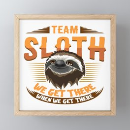 Sloth T-Shirt for slow runners running teams ;-) Framed Mini Art Print