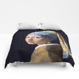 Girl With a Pearl Earring - Vermeer Comforters