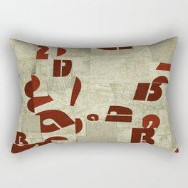 Absract Collage Rectangular Pillow
