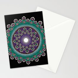 Purple and Teal Mandala Stationery Cards