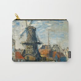"""Claude Monet """"The Windmill, Amsterdam"""", 1871 Carry-All Pouch"""