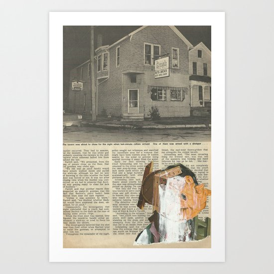 Gouge  Art Print
