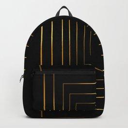 Golden pattern on black Backpack