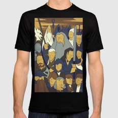 The Fellowship of the Ring Mens Fitted Tee MEDIUM Black