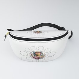 Times Square New York City (badge emblem on white) Fanny Pack