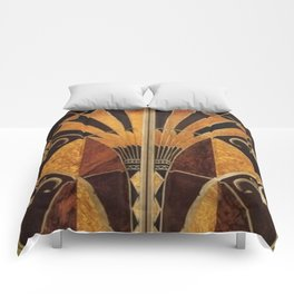 art deco wood Comforters