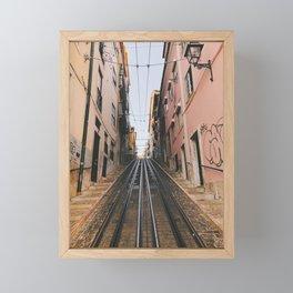 Lisbon Bica Funicular, Lisbon, Portugal Framed Mini Art Print