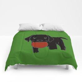 Black Lab Puppy Comforters