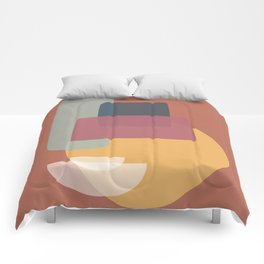 Abstract Kitchen Cupboard Comforters