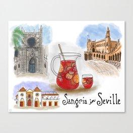 Sangria in Seville, Spain Canvas Print