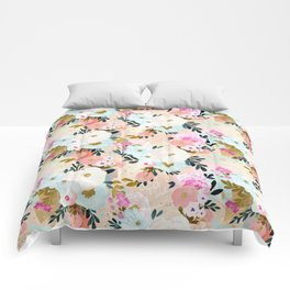 Florence Painterly Floral Comforters