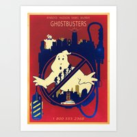 ghostbusters Art Prints featuring Ghostbusters by Jared Andolsek