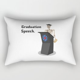 A Sarcastic Graduation Speech by a Skeleton Rectangular Pillow