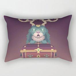 The Jackalope King's Chest Rectangular Pillow