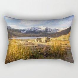 Glyder Fawr and Llyn Ogwen Rectangular Pillow
