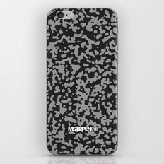 Comp Camouflage Pattern / Black iPhone & iPod Skin