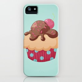 Chocolate Cupcake iPhone Case