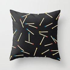 Matchsticks Throw Pillow
