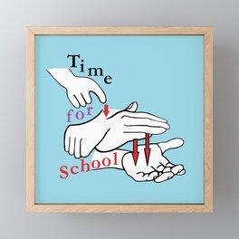 ASL Time for School Framed Mini Art Print
