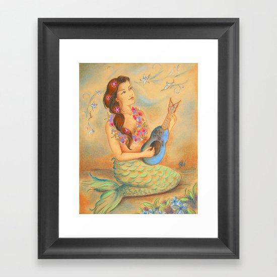 Mermaid Song Framed Art Print