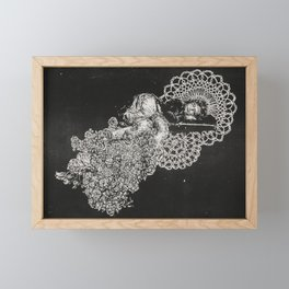 Floral Pin-up Framed Mini Art Print