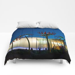 Seattle Glass Flowers Space Needle Comforters