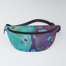 Where Blues Collide - Abstract Acrylic Art by Fluid Nature Fanny Pack