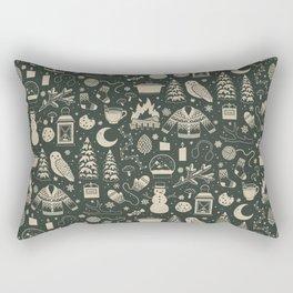 Winter Nights: Forest Rectangular Pillow