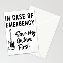 Save My Guitars First Funny Bass Guitarist Stationery Cards