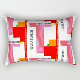 "Cocktail ""T"" - Tequila Sunrise Rectangular Pillow"